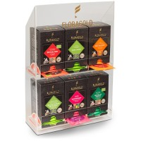 FLORAGOLD® Acryl Display für 6 Pyramidenbeutel-Faltschachteln