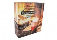 Tee Adventskalender himmlische Teegenüsse - Motiv Tee am Kamin -