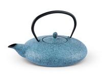 Teekanne Tsuki 1,1 Liter sprayed himmelblau aus Gusseisen