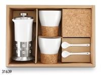 """Kaffee-Set """"Roos"""" Porzellan/Kork, 6-teilig"""