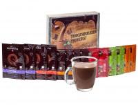 Monbana Trinkschokolade Probierset-Geschenkbox mit 18 Portionspackungen