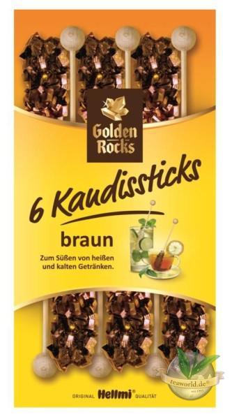 6 Kandissticks braun - Golden Rocks