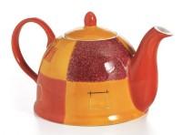 Teekanne Patricia Keramik mit Goldauflage 1,0 l