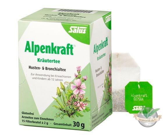 Salus Alpenkraft® Kräutertee Husten- und Bronchialtee - Arznei Tee -