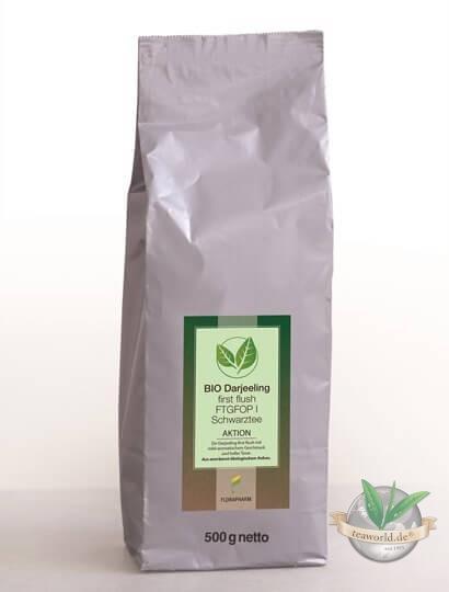 Bio Darjeeling first flush FTGFOP1 Aktionstee 500g - Schwarzer Tee