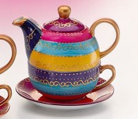 "Tea for one Set ""Charlana"" Porzellan, 4-teilig Kanne: 0,3 l, Tasse: 0,17 l"