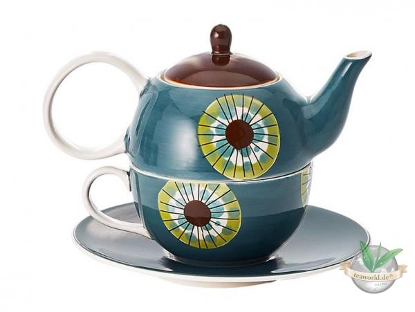 "Tea for one Set ""Cora"" Keramik, 4-teilig Kanne: 0,4 l, Tasse: 0,2 l"