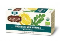 Organic Lemon Moringa Herb Tea - 20 Teebeutel - Celestial Seasonings Tee