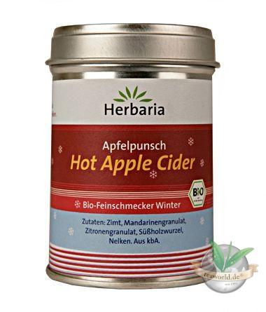 Bio Hot Apple Cider Gewürzmischung für Apfelsaft - Herbaria Gewürze