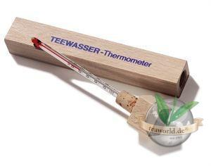 Teewasser Thermometer im Holzschuber