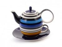 """Tea for one Set """"Vincent"""" Keramik, 4-teilig Kanne: 0,4 l, Tasse: 0,2 l"""