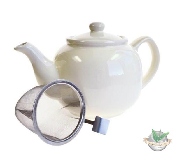 Shamila® – 1,2 Liter Teekanne CREAM mit Einsatzsieb