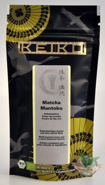 Bio Japan Matcha Tee Mantoku - 50g Nachfüllbeutel - Keiko Green Tea