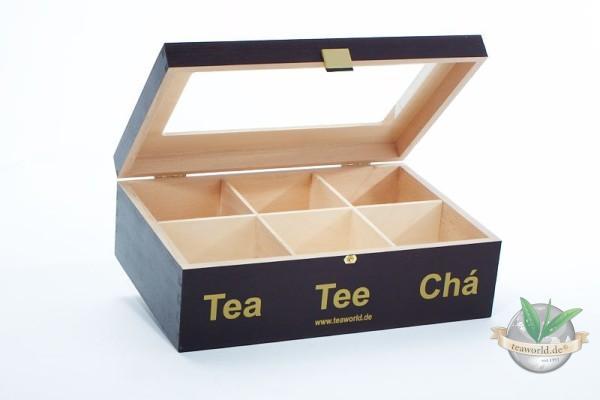 Pyramiden-Teebeutel Holzbox ohne Inhalt