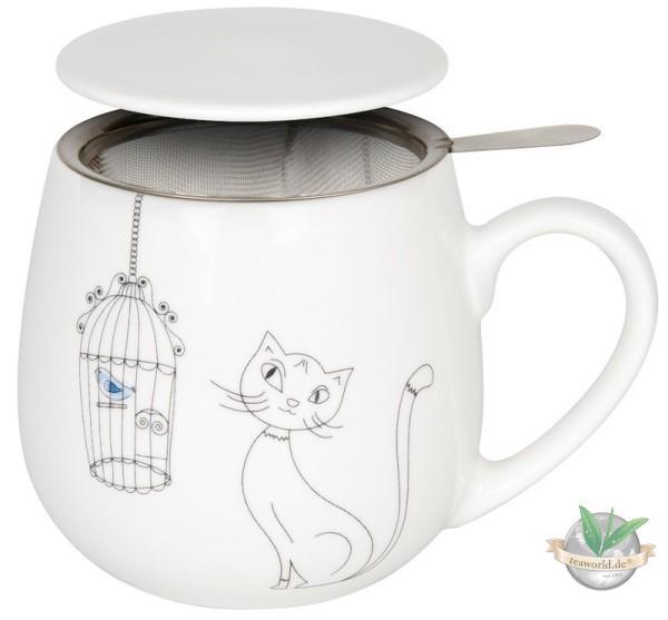 Kuschelbecher Tea for you - Cats an Birds