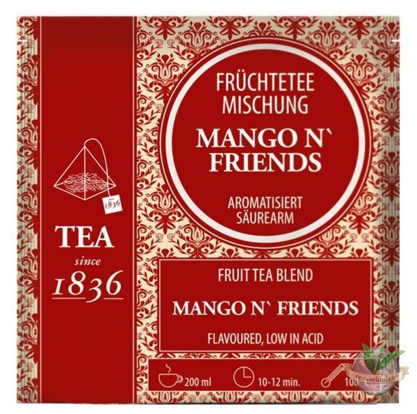 Mango ´n Friends Früchteteemischung - 50 Pyramidenbeutel à 4g