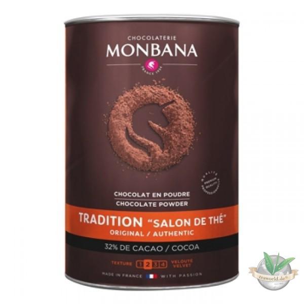 Monbana Tradition Salon De Thé Chocolate Powder 1000g - Trinkschokolade