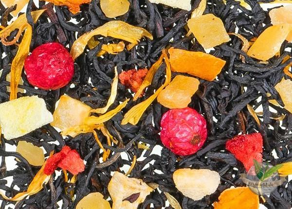 Bazaar Africa - Schwarzer Tee mit Blüten u. Fruchtstücken, aromatisiert