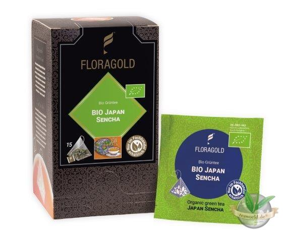 Bio Japan Sencha Grüner Tee 15 Pyramiden Teebeutel