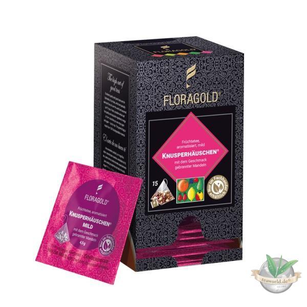 Knusperhäuschen mild Früchtetee 15 Pyramiden Teebeutel