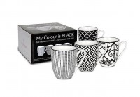 4er Geschenkset Becher - My colour is black