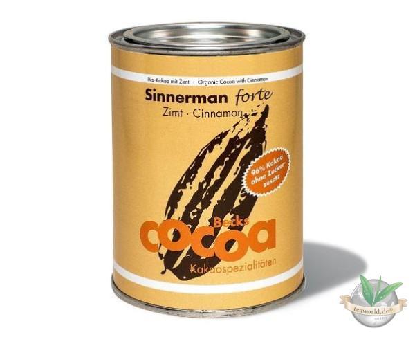 Bio Sinnerman forte (96% Kakao ohne Zuckerzusatz) - Becks Cocoa - 250g
