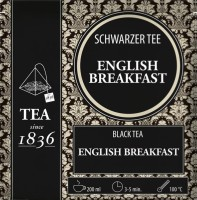 Schwarzer Tee English Breakfast - 50 Pyramidenbeutel à 3g