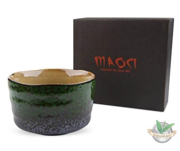 Matcha-Schale 400ml Moosgrün Geschenkbox
