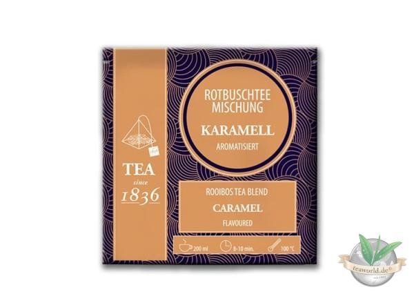 Rotbuschtee Caramel - 50 Pyramidenbeutel
