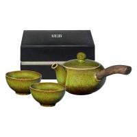 Réhu, Einhand-Kanne, Schalen, grün
