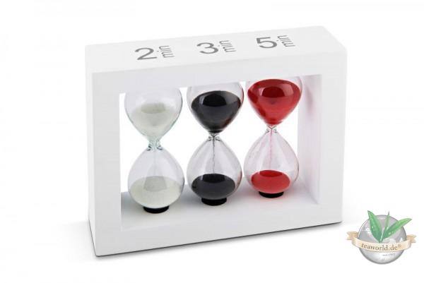 Sanduhr Tea-Timer für 2,3 und 5 Min. weiß