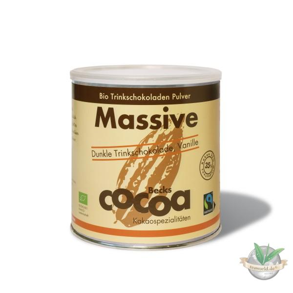 Traditionelle dunkle Bio Trinkschokolade mit Vanille - MASSIVE Becks Cocoa 1500g