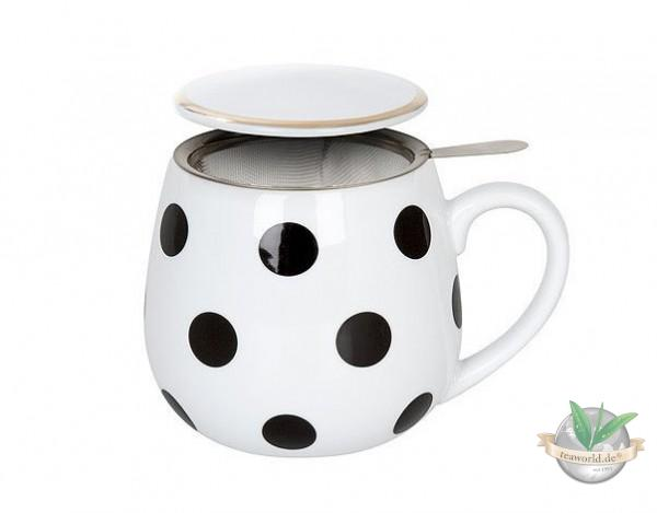Tea for you - Black and White Dots