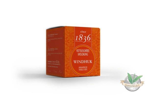 Rotbuschteemischung Windhuk Vanille - 15 Pyramidenbeutel à 3,5g