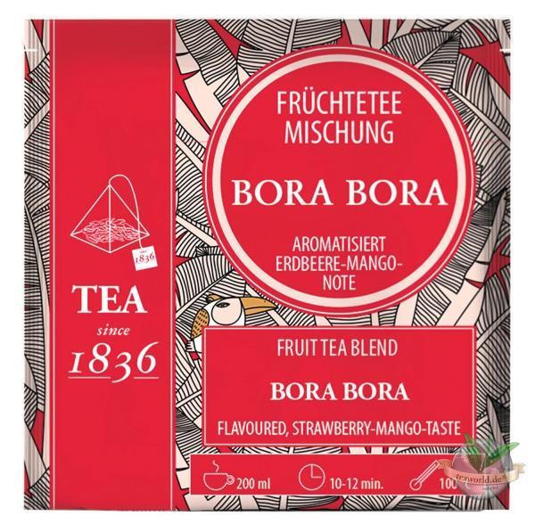 Früchtetee Bora Bora Erdbeer-Mango-Note 50 Pyramidenbeutel im Sachet à 4 g