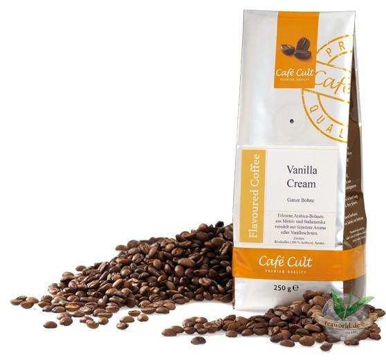 "Kaffee ""Vanilla Cream"", ganze Bohne, aromatisiert"