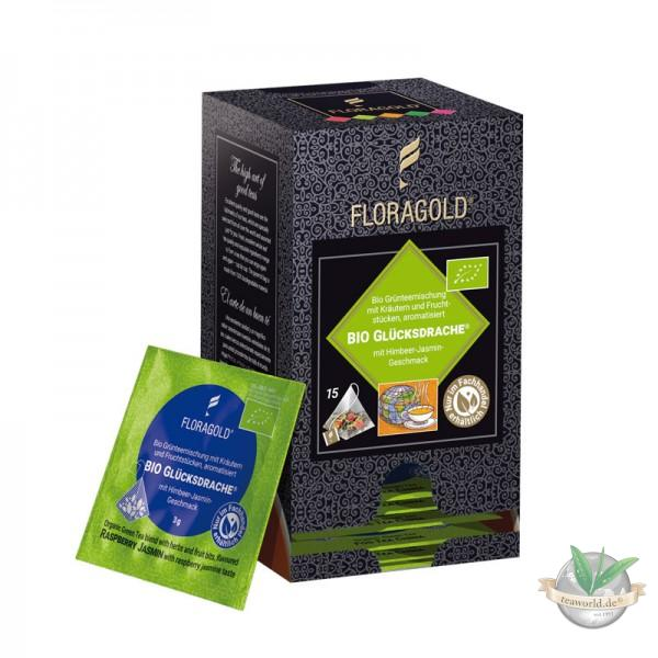 Bio Glücksdrache Grüner Tee 15 Pyramiden Teebeutel