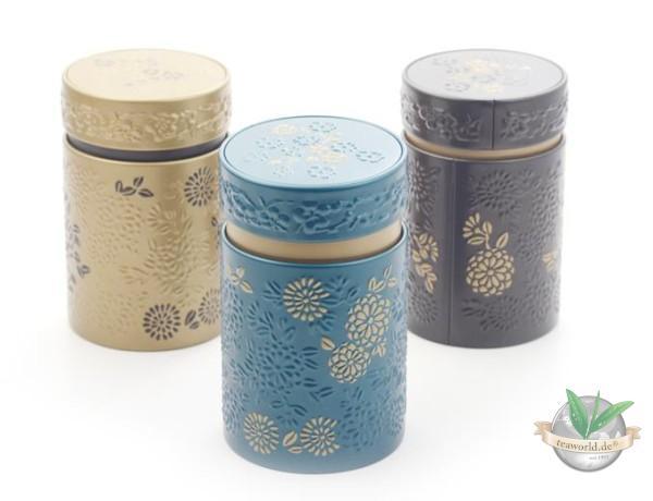 """3 Dosen """"Yumiko"""" rund mit Aromaverschluss für je 150g Tee"""