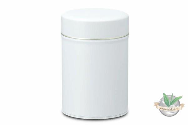 Teedose MATTWEISS (rund mit Stülpdeckel) für 150g Tee