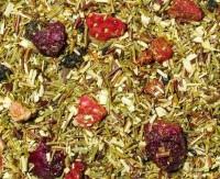 Rote-Früchte aromatisierter grüner Rooibusch-Tee- auslaufende Teesorte